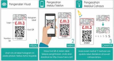 scan QR Code minyak herba asma mujarab