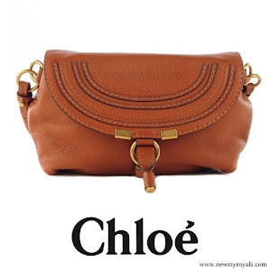 Crown Princess Mary carried CHLOE Calfskin Marcie Pochette Crossbody Bag