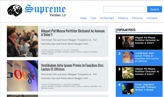 SupremeV2 blogger template
