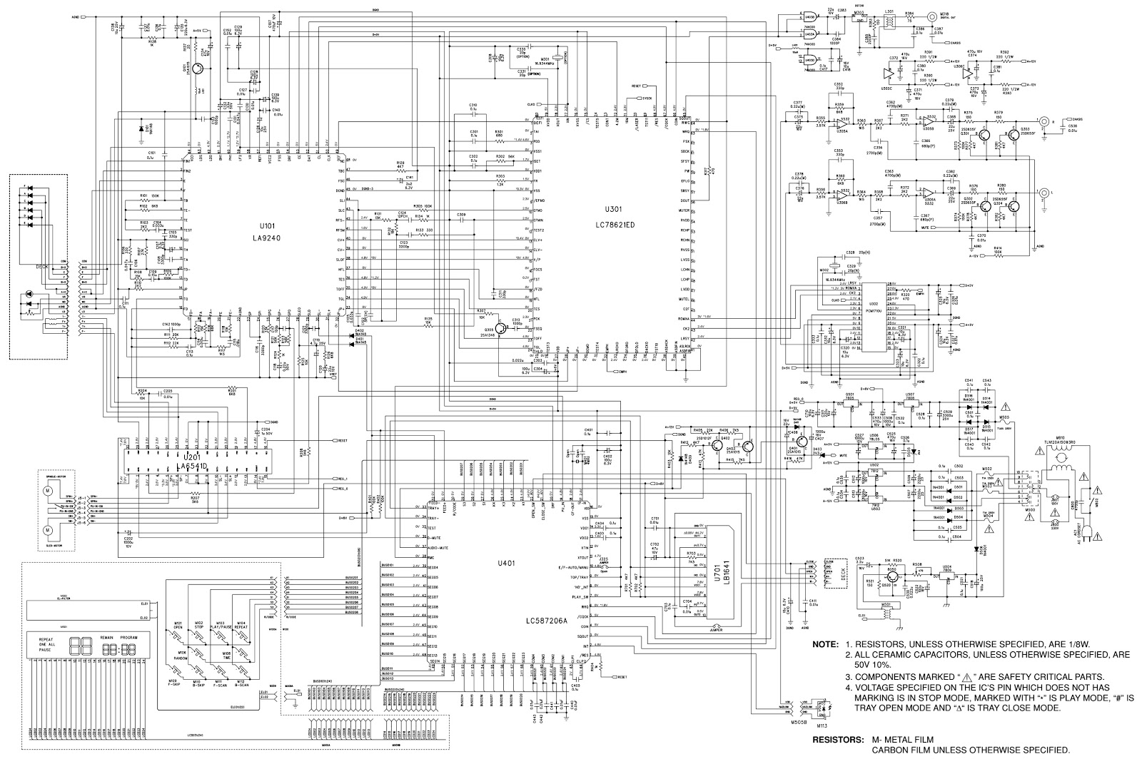 nad c521 compact disc player  u2013 schematic  u2013 mechanism exploded view