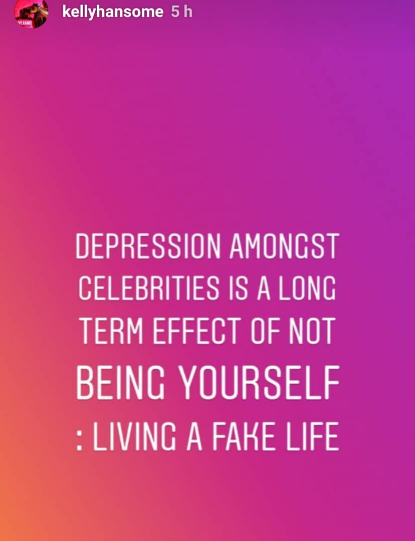 ''Many celebrities suffer depression because they live fake lives'' - Kellyhandsome