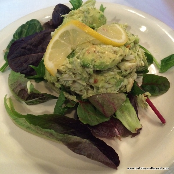 crab and avocado salad at Pujo Street Cafe in Lake Charles, Louisiana