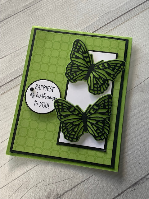 Butterfly Birthday Card using Brilliant Wings Dies From Stampin' Up!