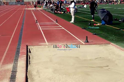 Contoh Foto Lapangan Lompat Jangkit Dalam Kompetisi Olahraga