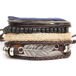 third anniversary leather jewelry gift bracelet