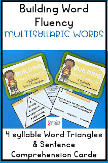 Decoding Multisyllabic Words with phonics word work activities