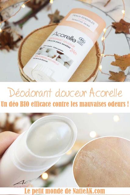 Acorelle déodorant douceur coton poudré avis