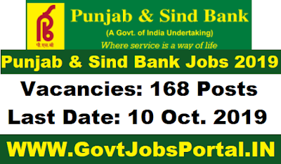 Punjab and Sind Bank Recruitment 2019