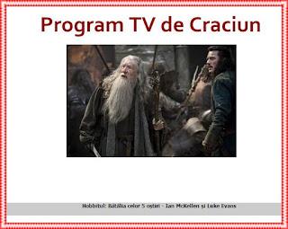 program tv craciun 2016 protv antena 1 kanal d