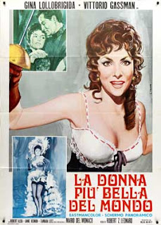A poster for the film 'The World's Most  Beautiful Woman' with Gina Lollobrigida