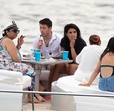 Priyanka Chopra smokes at yacht in Miami. Peoples ask asthma sirf Diwali mein hota hai kya?