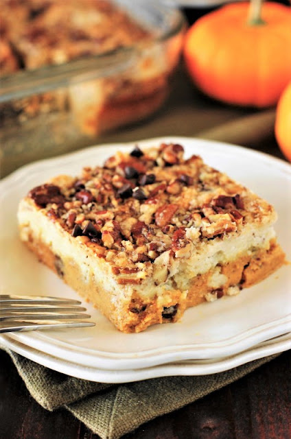 Piece of Chocolate Chip Pumpkin Dump Cake Image