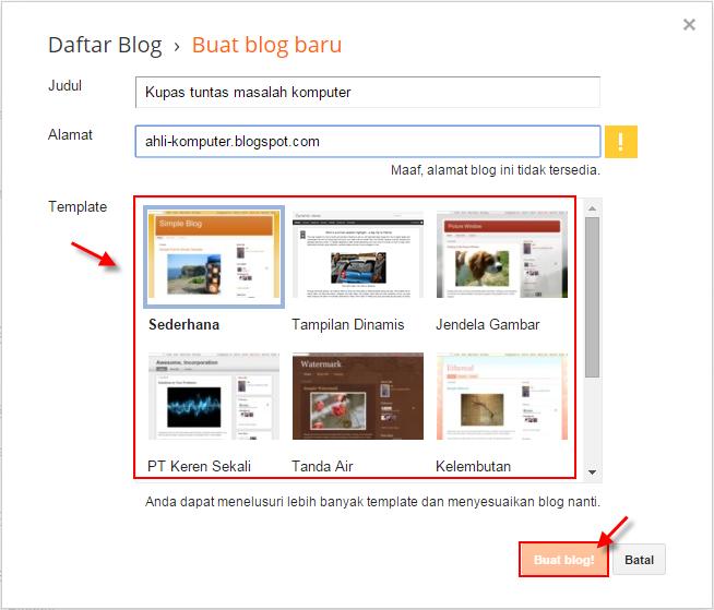 bagaimana cara membuat blog