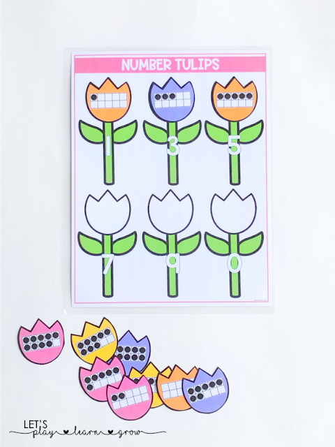 Ten Frame Numbers: Spring Themed Activity Binder