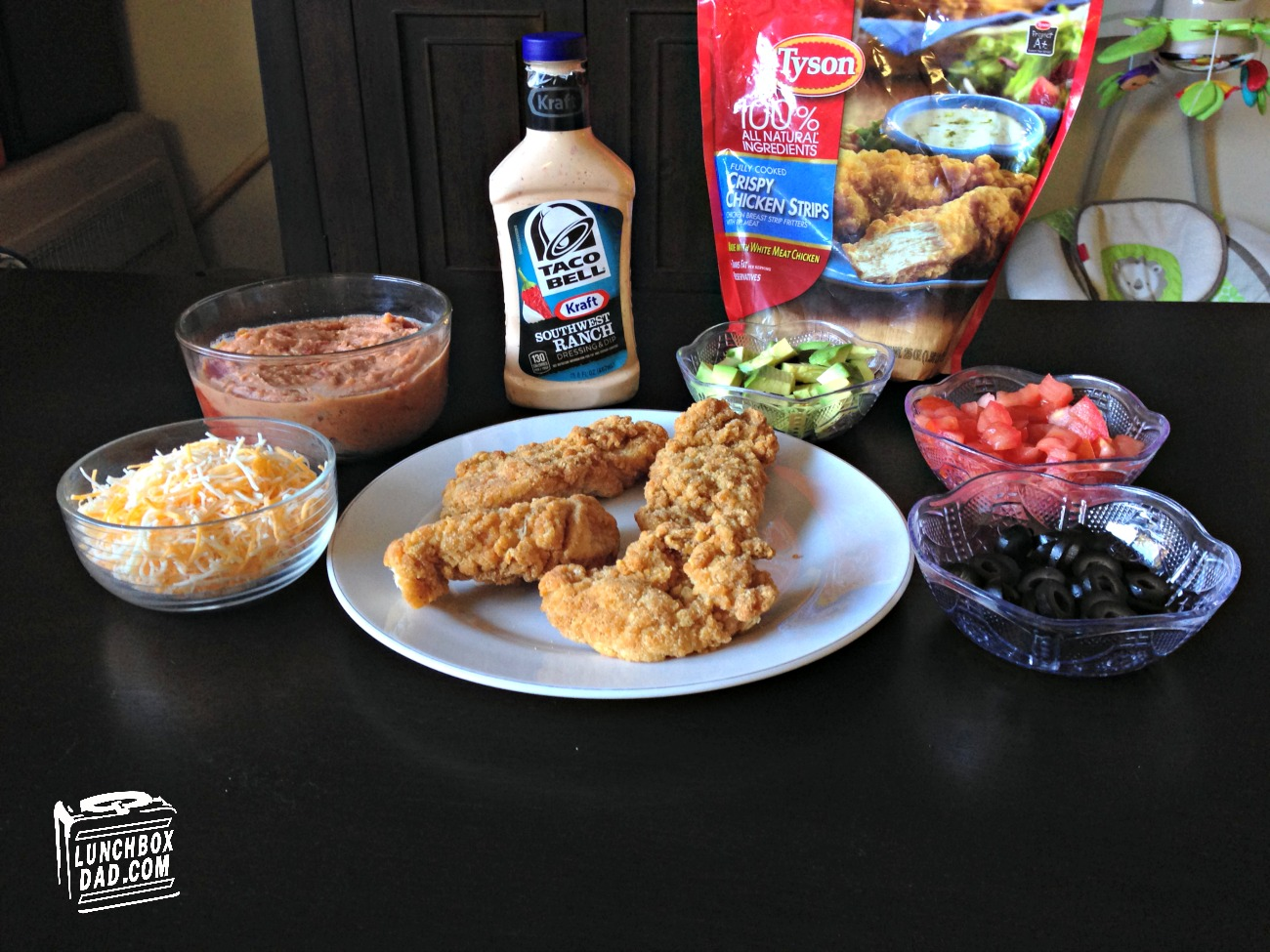Tyson Super Moments Seven Layer Dip ingredients #SuperMoments #ad #cbias