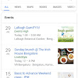 Google search will show events primarily based for your interest and location