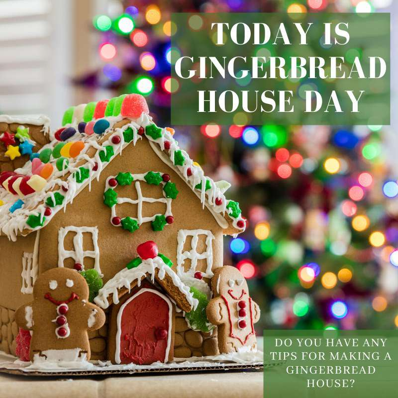 Gingerbread House Day Wishes Lovely Pics