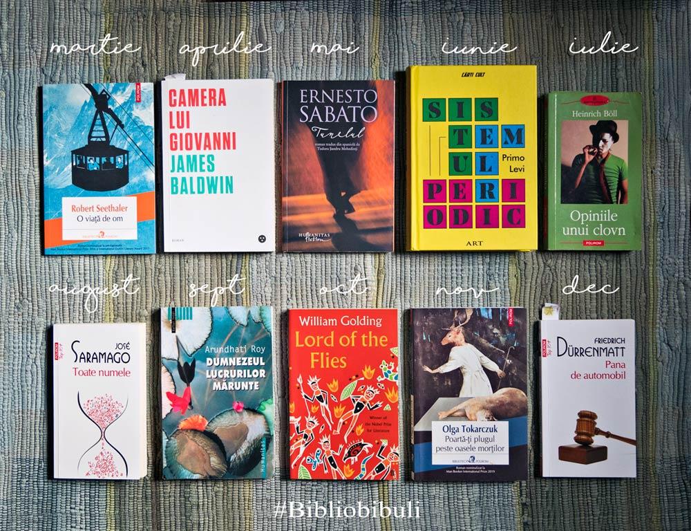 cărți la clubul de lectură Bibliobibuli Cărturești