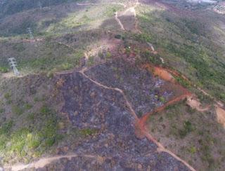 La Vega, RD. Por la rápida intervención de las brigadas de bomberos forestales del Ministerio de Medio Ambiente y Recursos Naturales, la Armada, Fuerza Aérea, el Servicio Nacional de Protección Ambiental (SENPA) y el Ministerio de Defensa, fue sofocado este sábado el incendio de gran magnitud registrado en Loma Guaigui de La Vega.