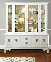 White hutch for dining room furniture decoration