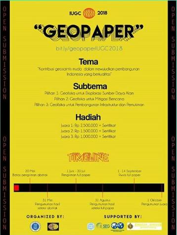 Lomba Paper Competition Mahasiswa Geopaper IUGC 2018