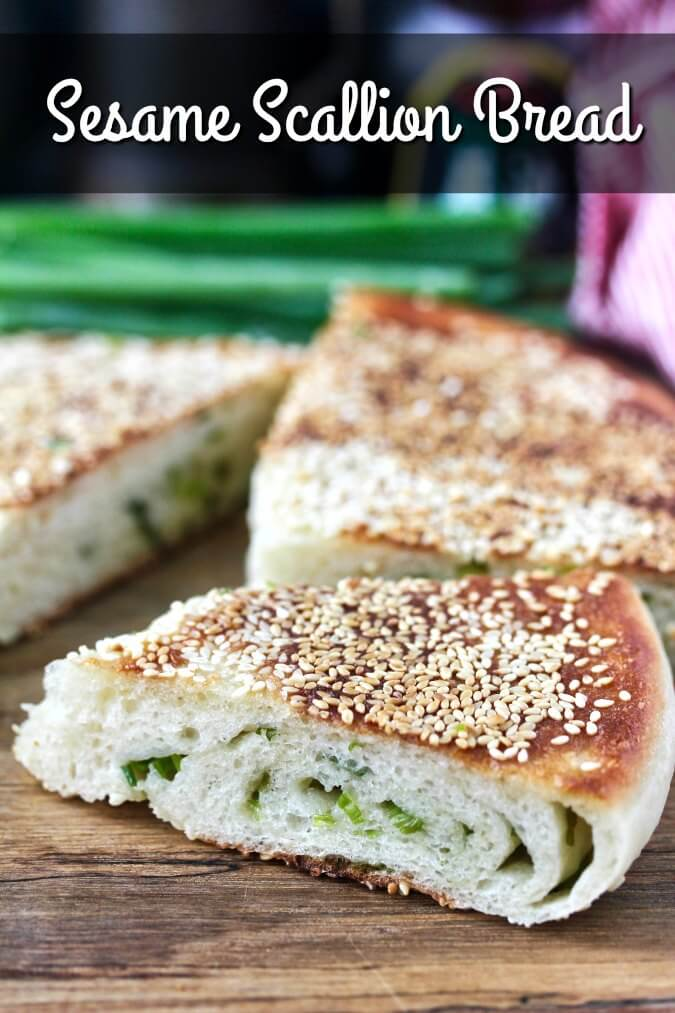 Sesame Scallion Bread slices