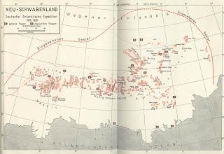 Mapa alemán de Neuschwabenland