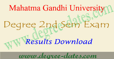 MGU degree 2nd sem results 2018 ug second semester result date