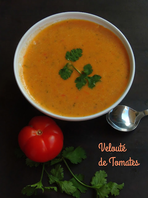 Creamy tomato soup, French tomato soup