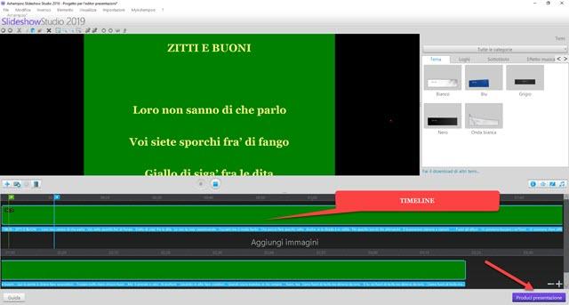 clip del testo su sfondo verde