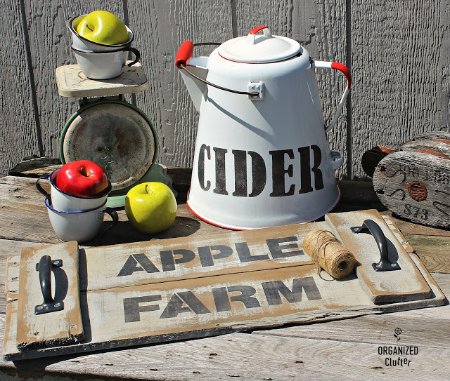 Photo of Apple Farm themed rustic fall tray