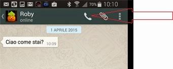 istruzioni per telefonate con whatsapp