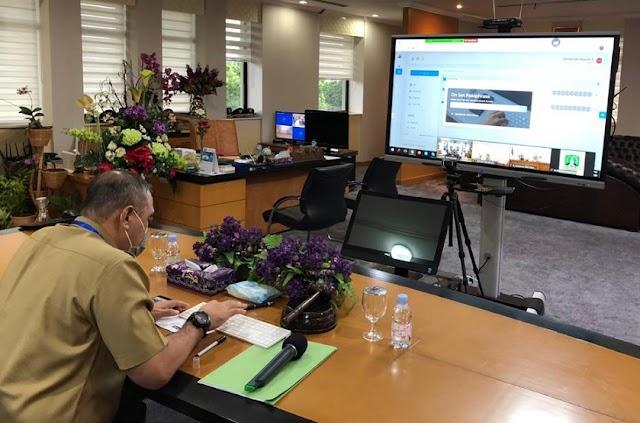 Bupati Zaki Tanda Tangan Digital Kesepakatan Penanganan Banjir Jabodetabekjur