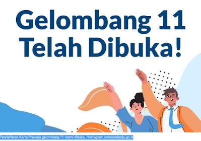 Buruan Daftar! Dibuka Mulai Hari Ini Kartu Prakerja Gelombang 11, Kesempatan Mendaftar Hanya Tiga Hari
