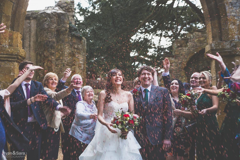 throwing confetti, wedding