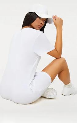 Basic White Short Sleeve T Shirt Design Back side