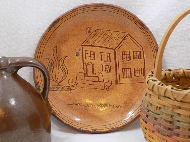 Redware Dish PA Museum Piece 1985 American Folk Art by Greg Shooner