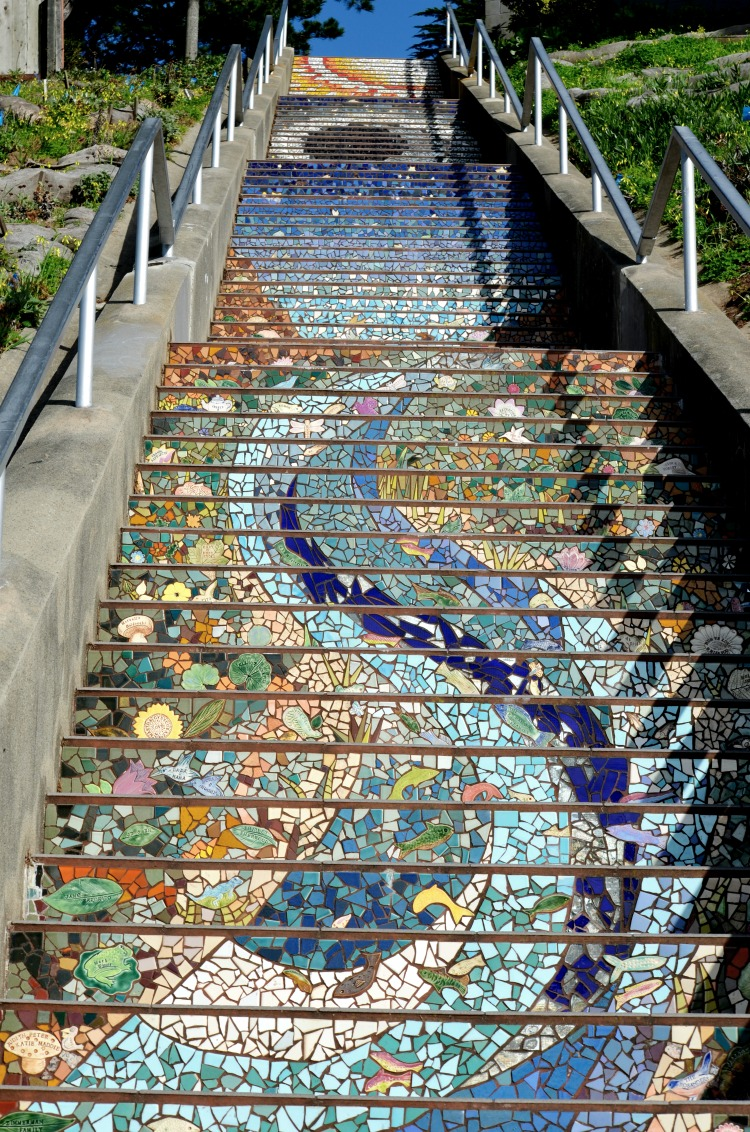 16th Avenue San Francisco 163 Mosaic-Tiled Steps