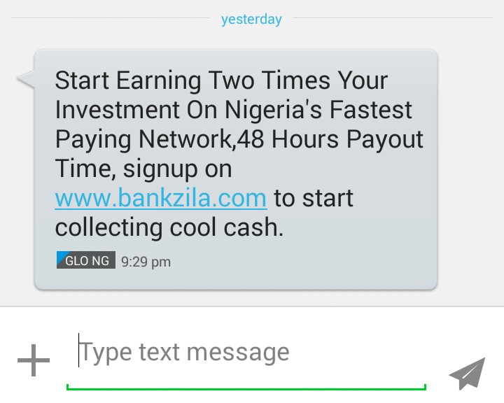 Ponzi in Nigeria is advanced