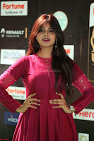 Monal Gajjar in Maroon Gown Stunning Cute Beauty at IIFA Utsavam Awards 2017 038.JPG
