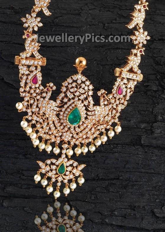 Southindian Traditional Diamond Haram Latest Jewellery