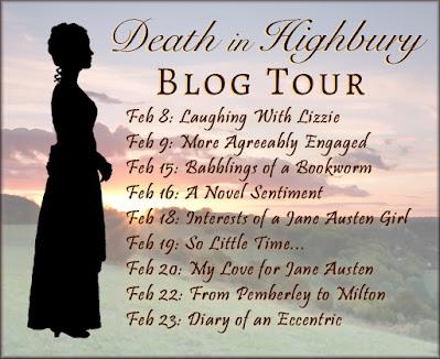 Blog Tour Schedule - Death in Highbury by Riana Everly