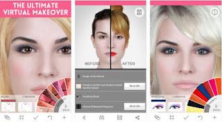aplikasi makeup atau edit wajah kecantikan virtual makeover