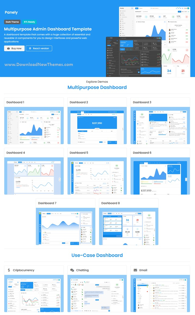 Multipurpose Admin Dashboard Template