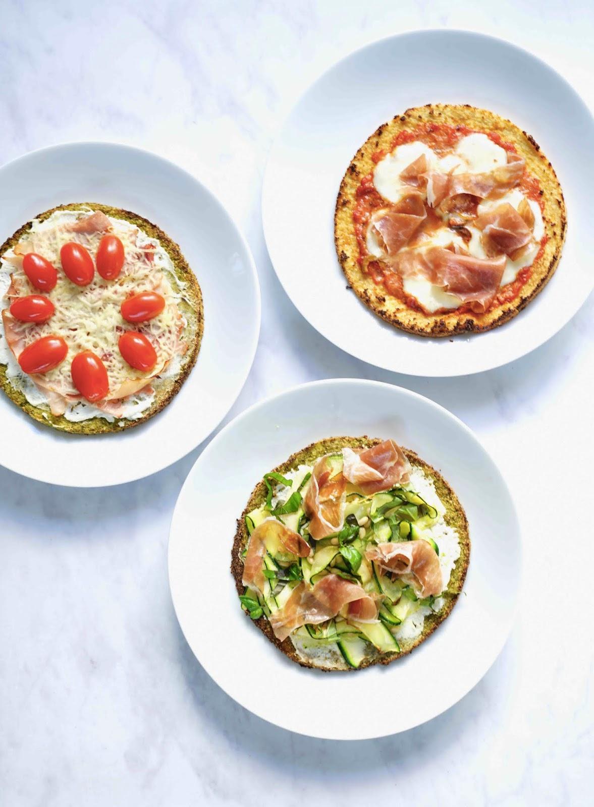pizzas aux légumes , chou fleur , brocoli , recettes légères