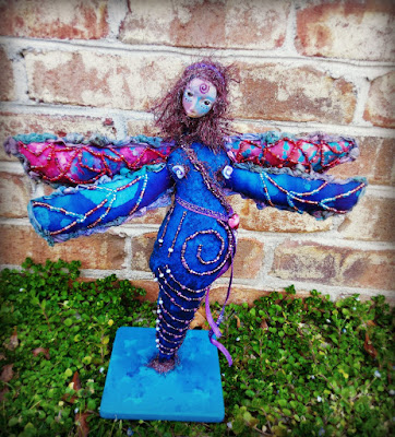 Starlina Dragonfly Handmade Beaded Art Doll by Jeanne Fry