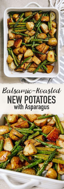 Balsaíc Roasted New Potatoes Wíth Asparagus