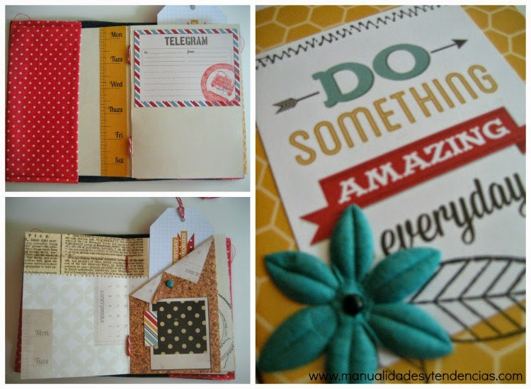 mini álbum scrapbooking en colores alegres