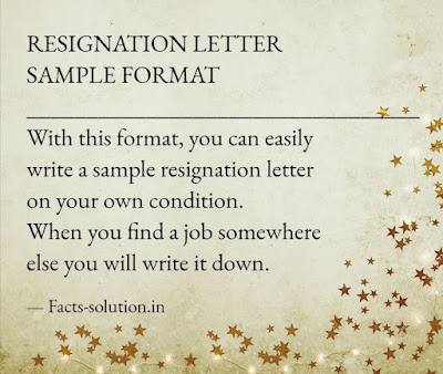 how to write sample resignation letter