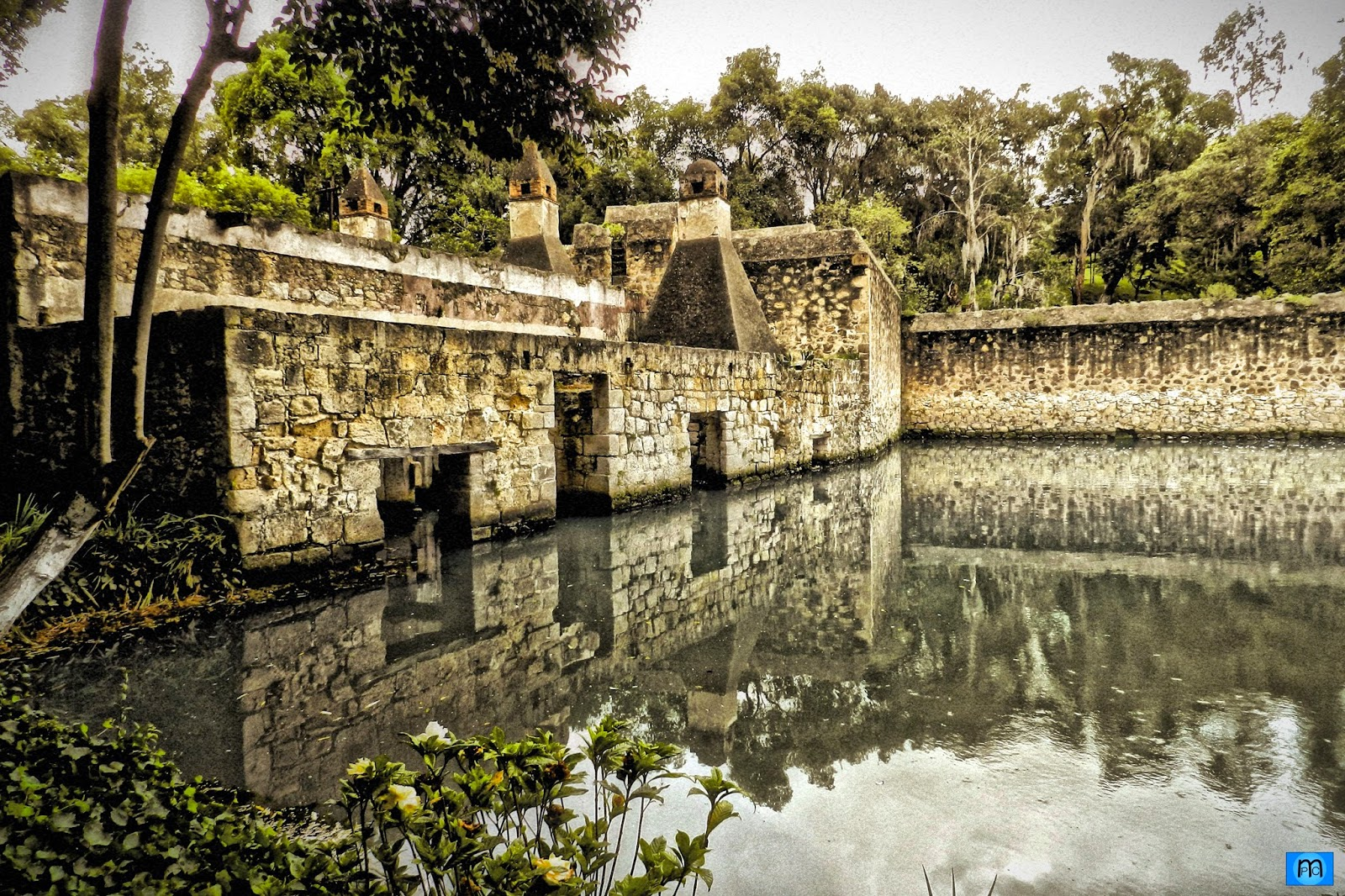vista de la ex hacienda de San Miguel Regla